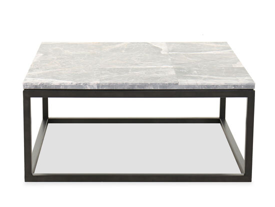 Contemporary Square Cocktail Table in Cerused Priano