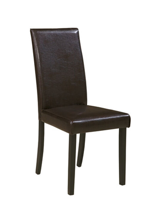 Contemporary 38'' Side Chair in Dark Brown