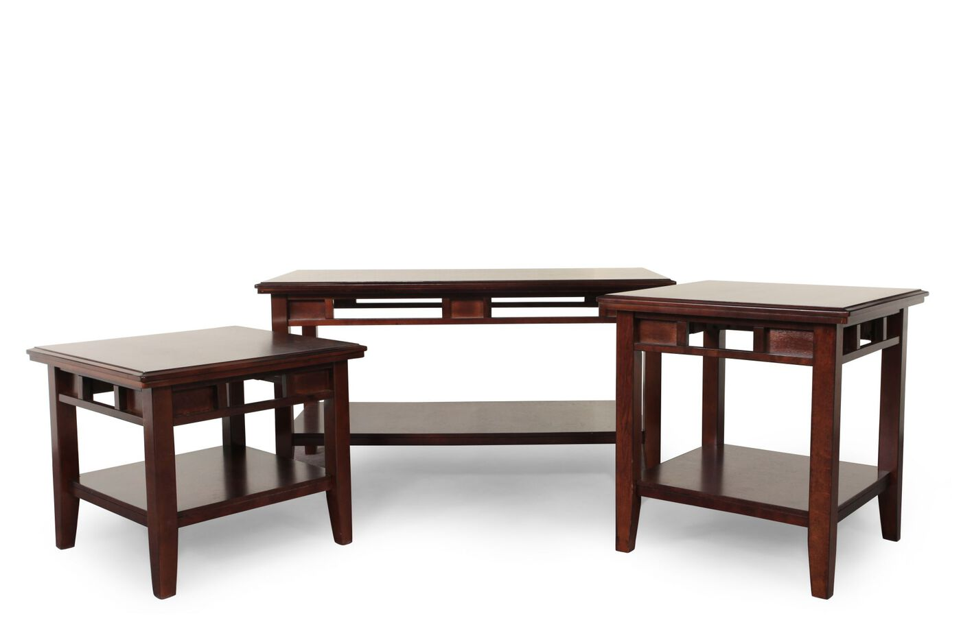 ashley logan coffee table set | mathis brothers furniture