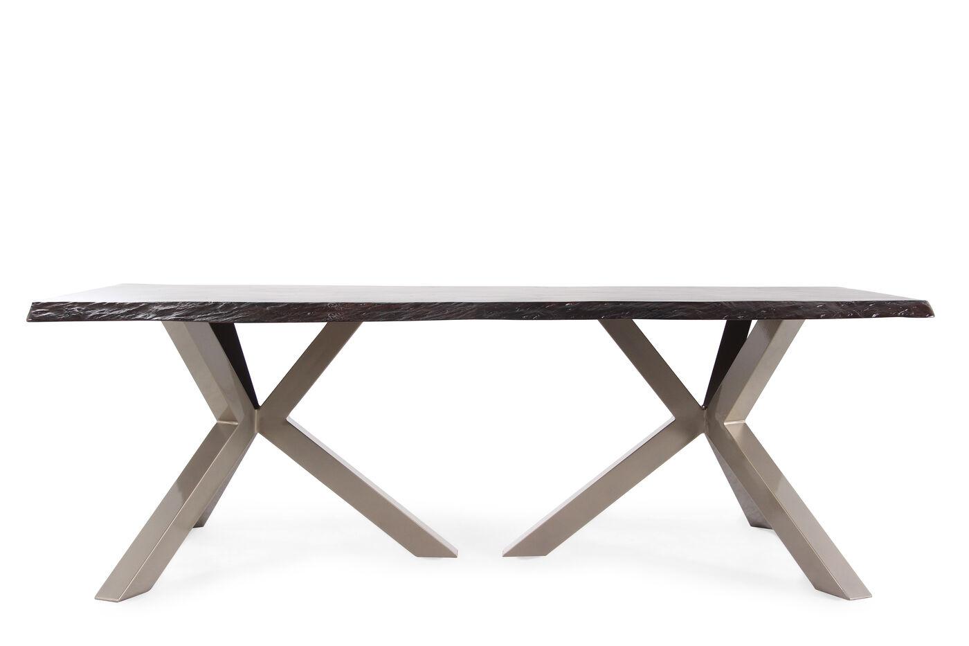 Images Tripod Pedestal Aluminum Rectangular Dining Tablenbspin Dark Brown