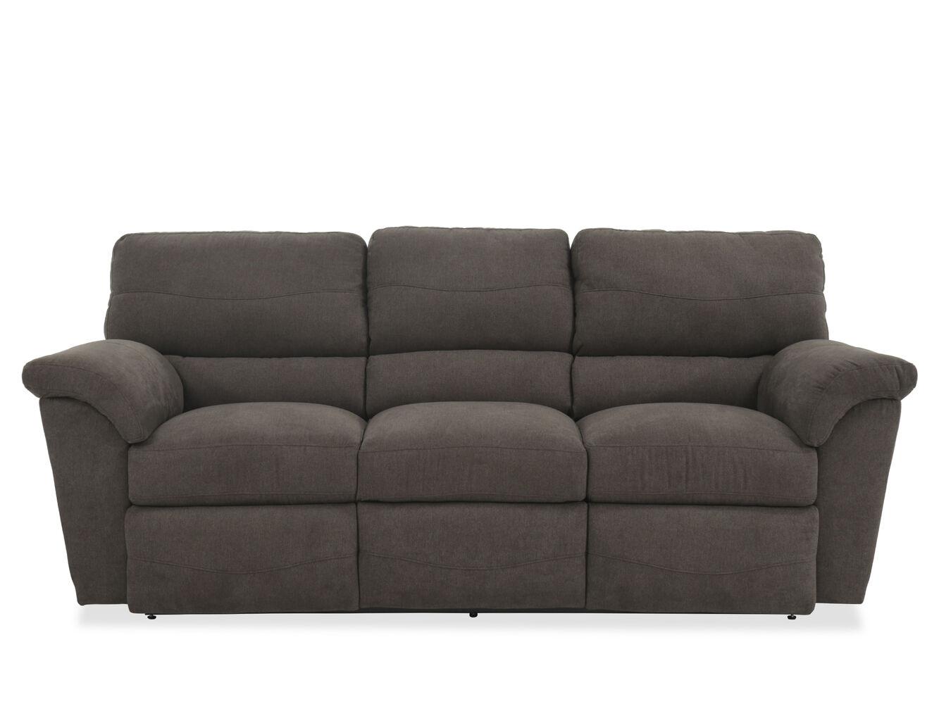 Contemporary 90 Quot Reclining Sofa In Granite Mathis