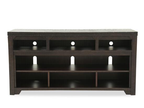 Open Shelves Casual TV Stand in Dark Rum