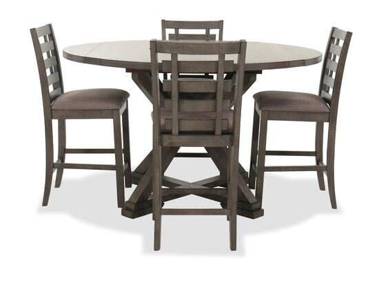Five-Piece Table and Chair Set in Dark Brown