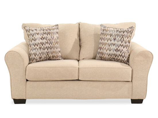 70'' Roll Arm Traditional Loveseat in Linen