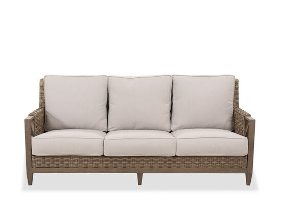 Traditional Three-Cushion Sofa in Beige