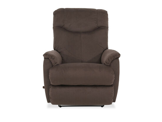 Pull Handle Casual Wall Recliner in Brown