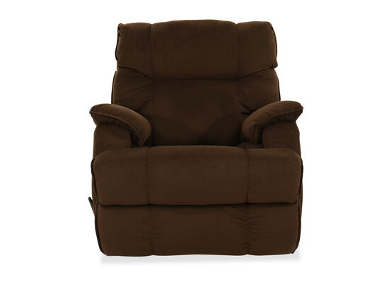 Casual Nailhead Accented Reclining Cuddler In Brown