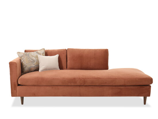 Casual Left Arm Facing Chaise in Orange
