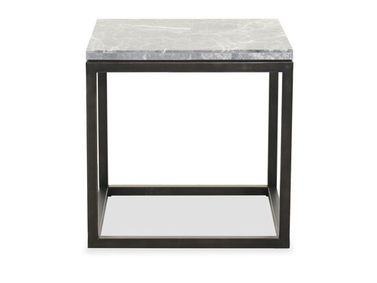 Contemporary Square End Table in Cerused Priano