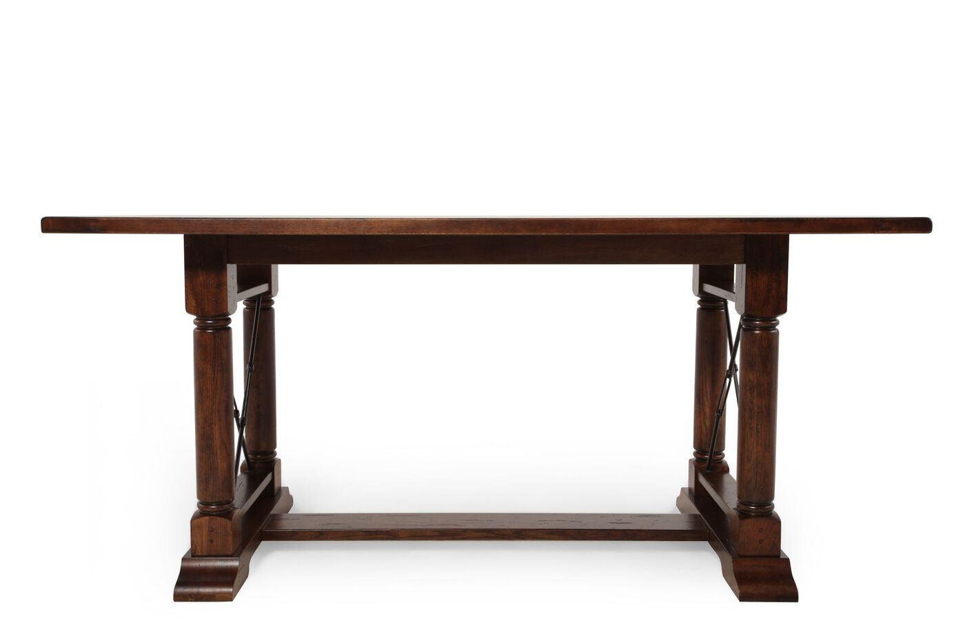 broyhill attic heirlooms rustic oak counter height table | mathis