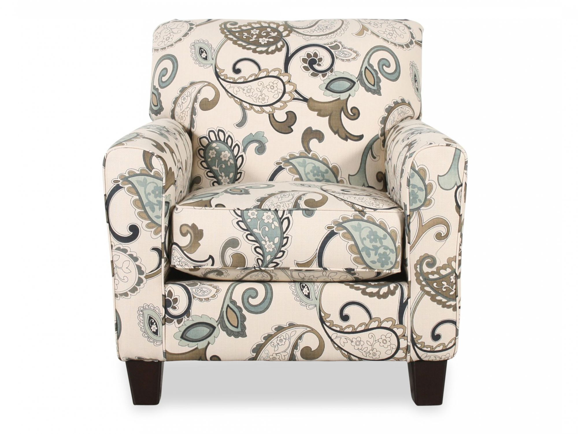 Images Paisley Patterned Contemporary 35u0026quot; Accent Chair In Cream Paisley  Patterned Contemporary 35u0026quot; Accent Chair In Cream