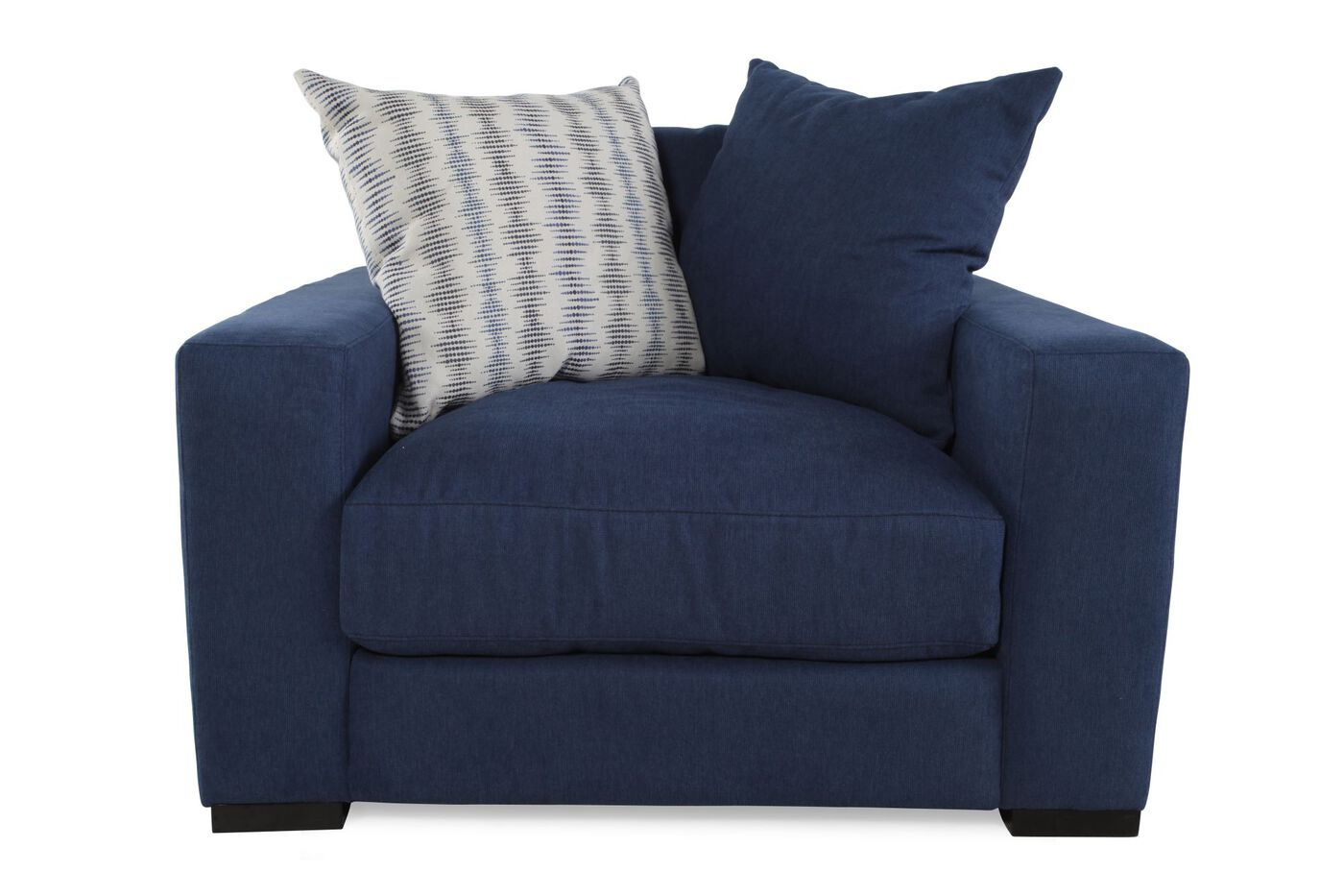 blue chair living room low profile casual arm chair in blue mathis brothers 14206