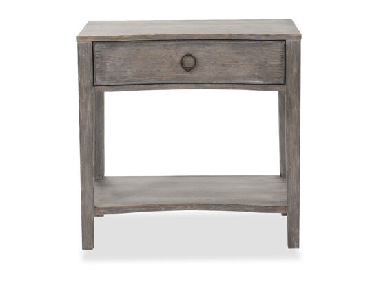 """30"""" One-Drawer Traditional Nightstand in Shale"""