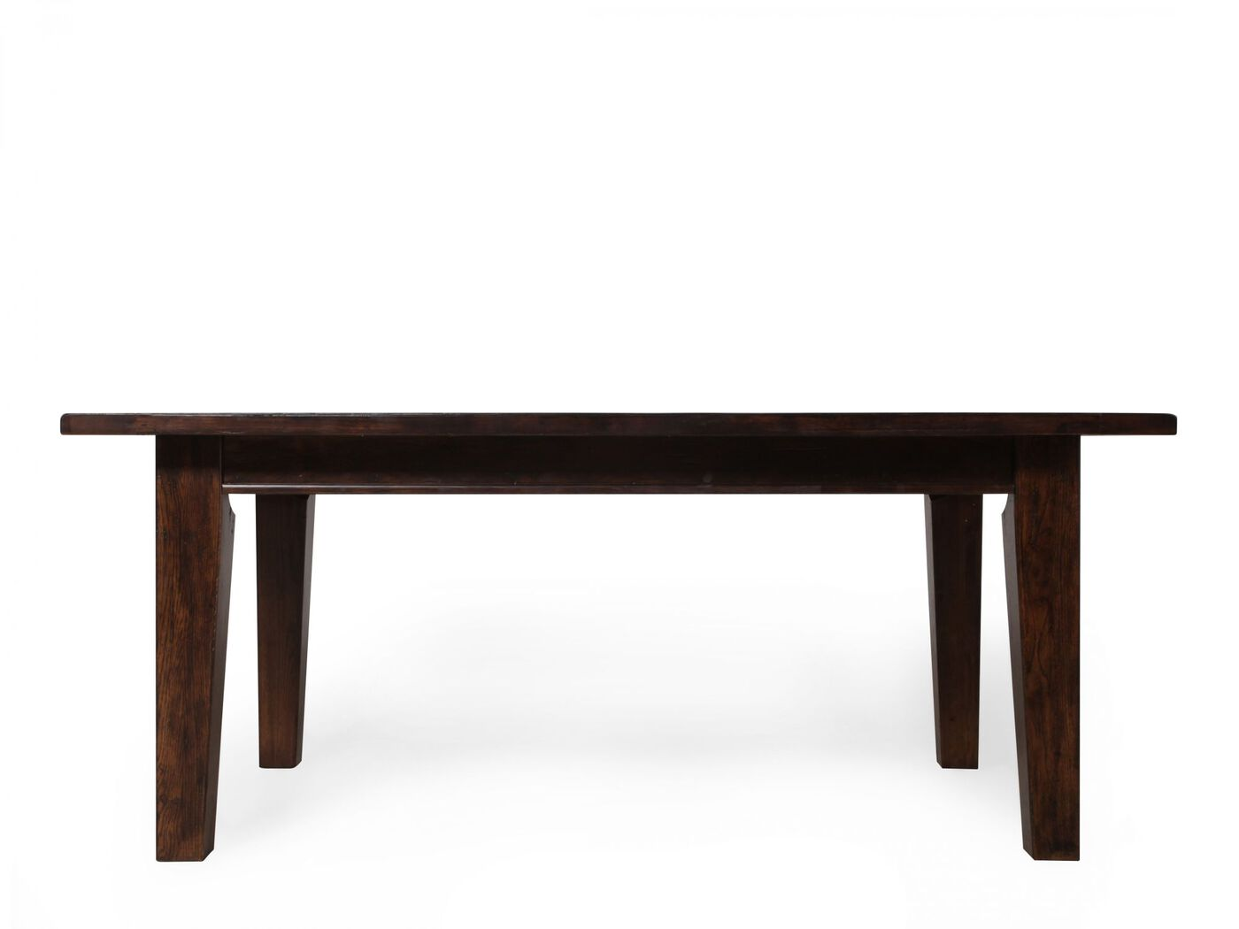 """Country 72"""" to 108"""" Solid Oak Table in Rustic Oak"""