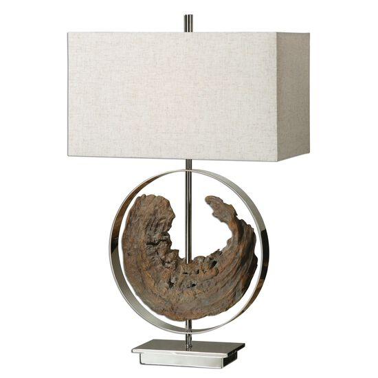 Rectangle Hardback Shade Lamp in Oatmeal Linen