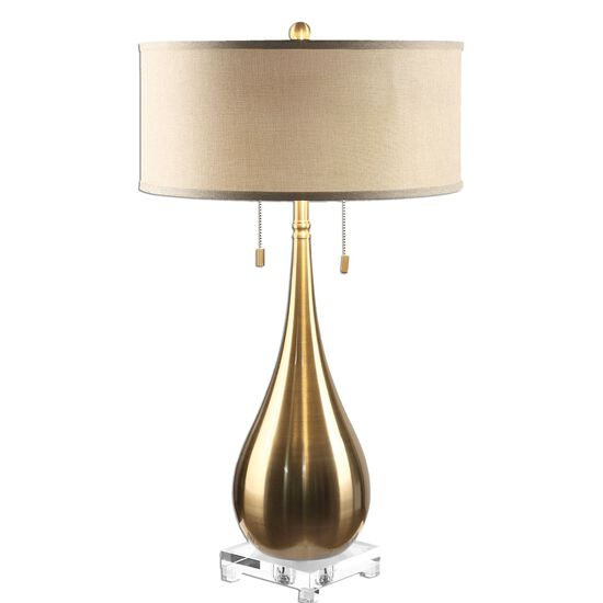 Teardrop Lamp in Brass