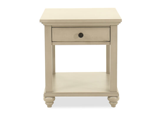 One-Drawer End Table in Mineral Gray