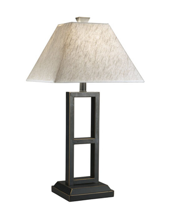 Contemporary Open Window Table Lamp in Black