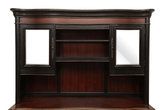 79 Traditional Glass Door Hutch In Cherry Mathis Brothers Furniture