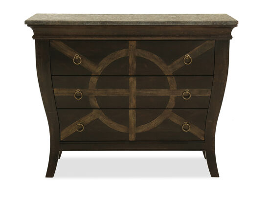 "33"" Traditional Granite-Top Nightstand in Rye"