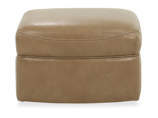 Casual Leather Glider Ottoman in Brown