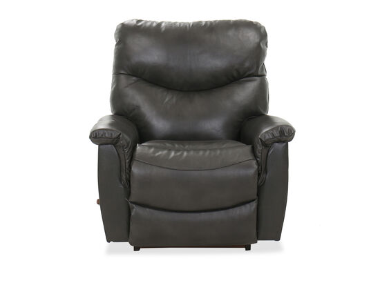 "Contemporary 39"" Rocker Recliner in Charcoal"