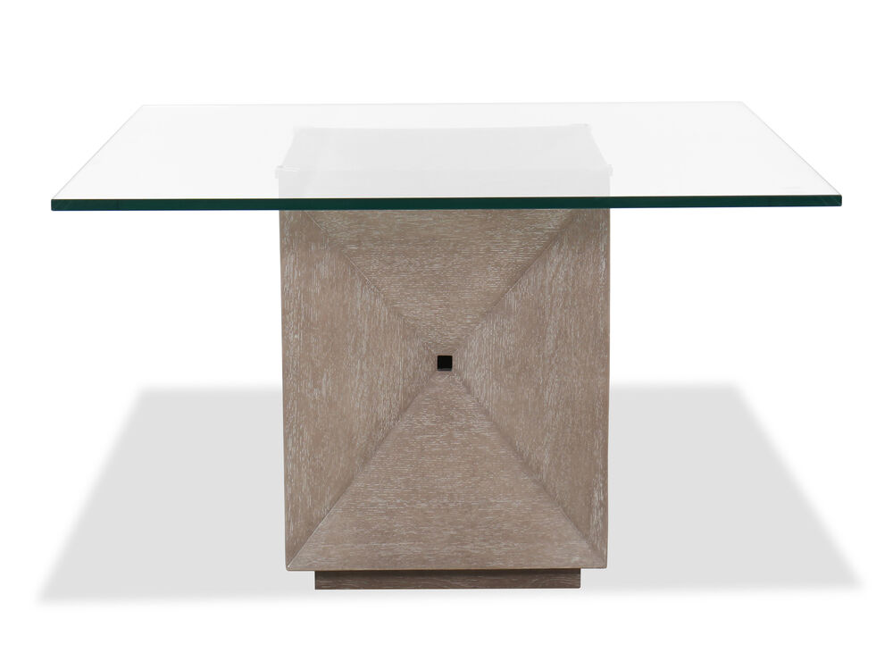 """Transitional 48"""" Square Dining Table in Flaky Oak"""