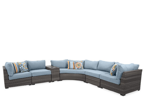 Five-Piece Casual Sectional in Grey
