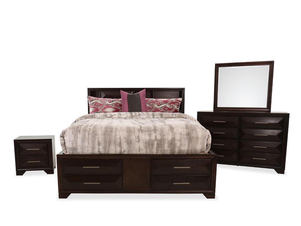 Four-Piece Transitional Bed Suite in Tobacco