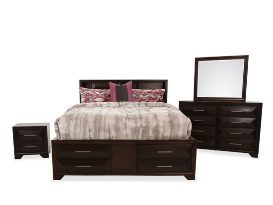 Four-Piece Transitional King Bed Suite in Tobacco