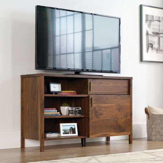 Traditional Sliding Panel TV Stand in Grand Walnut