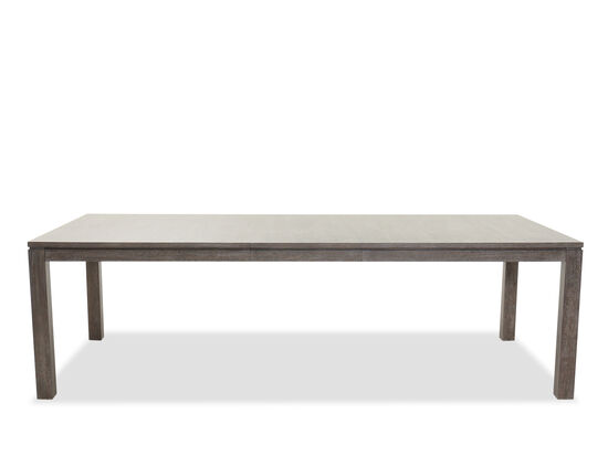 """Contemporary Rectangular 80"""" to 100"""" Dining Table in Cerused Gray"""