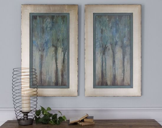 Two-Piece Framed Trees Wall Art Set