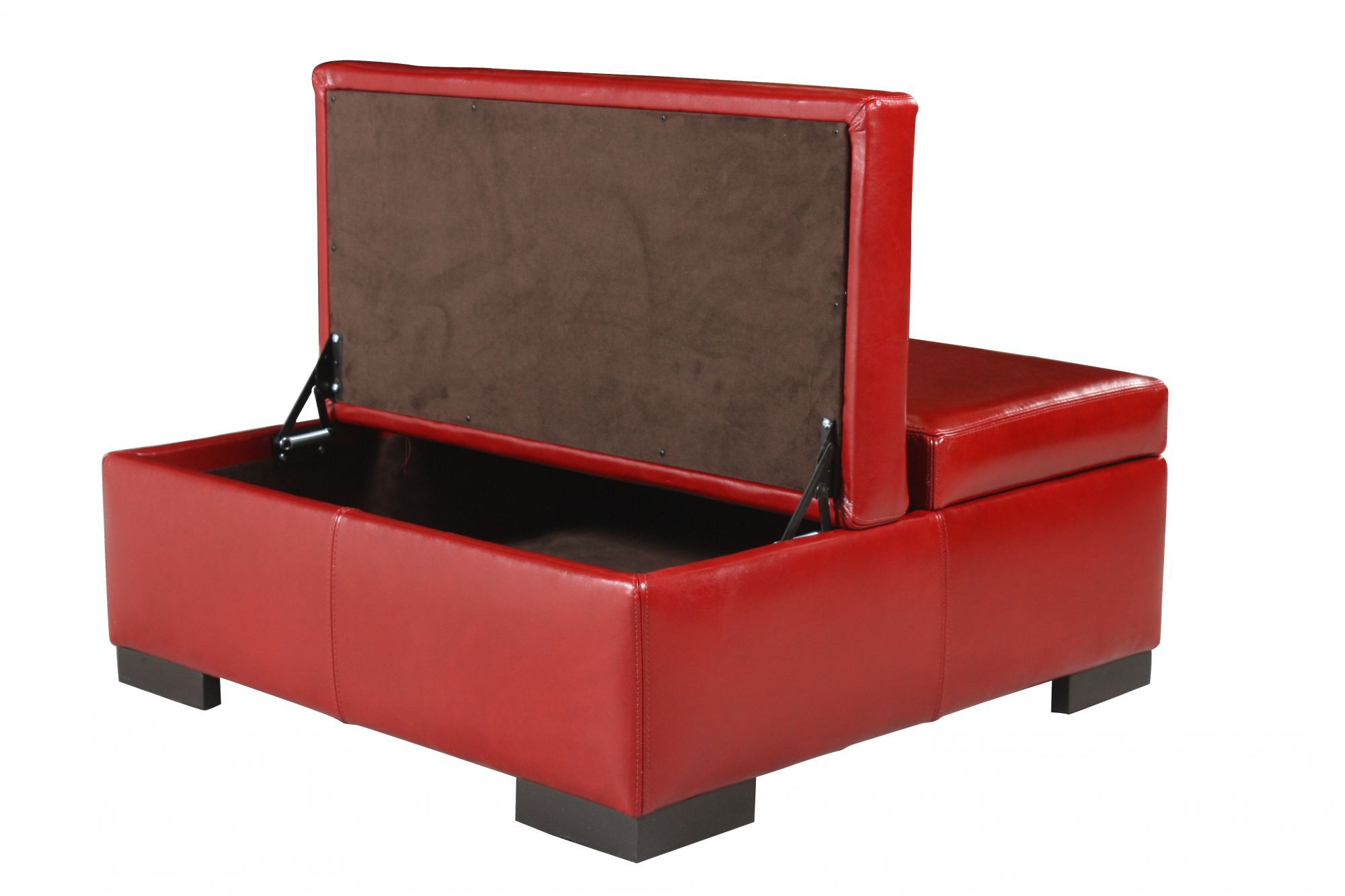 Traditional 36u0026quot; Leather Storage Ottoman in Red  sc 1 st  Mathis Brothers & Traditional 36