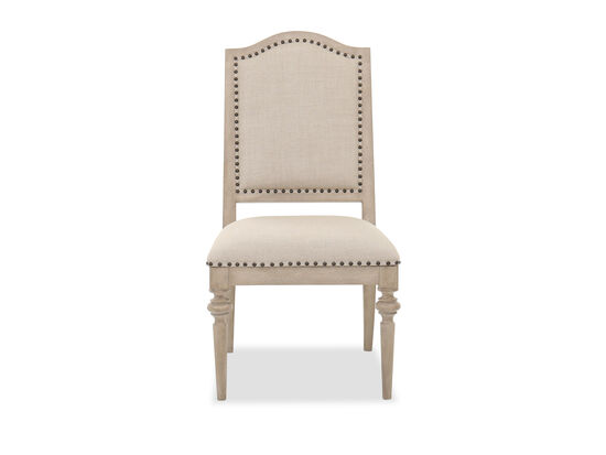 Casual Upholstered Side Chair in Ivory