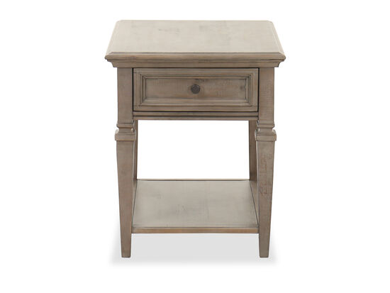 Casual Rectangular End Table in Dovetail Gray