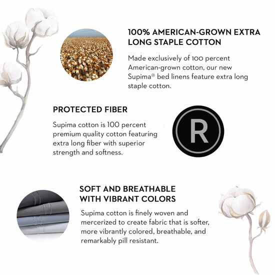 Malouf Supima Cotton Queen Sheet Set in Flax