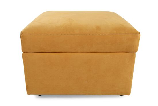 "Contemporary 27"" Storage Ottoman in Yellow"