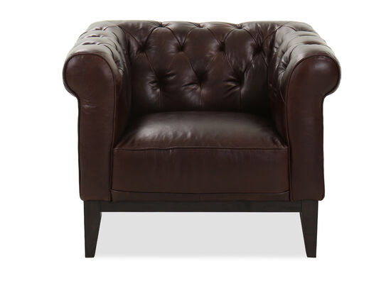 Tufted Leather Chair in Cocoa