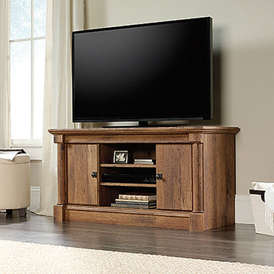 Adjustable Shelf Casual Panel TV Stand in Vintage Oak