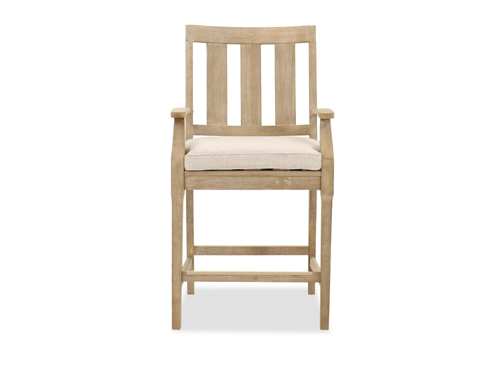 Contemporary Patio Bar Stool in Beige | Mathis Brothers Furniture
