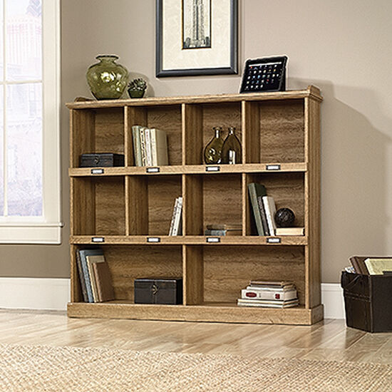 Transitional Bookcase in Scribed Oak