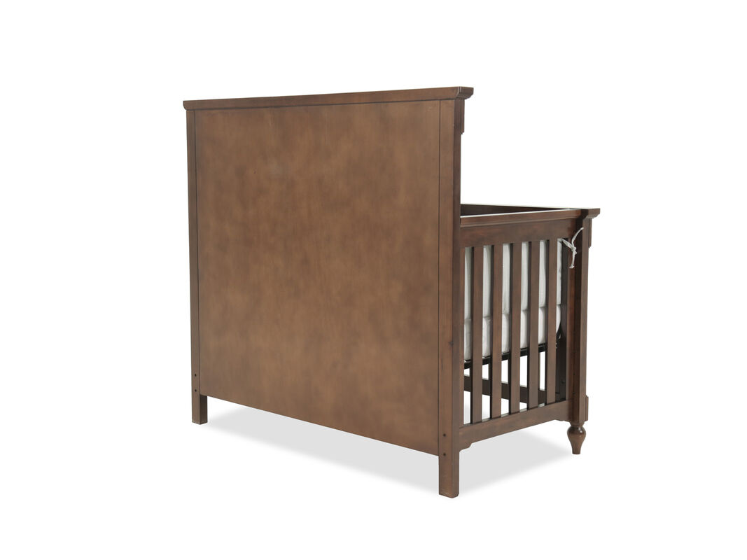 Paneled Convertible Crib In Dark Brown Mathis Brothers Furniture
