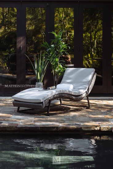 Aluminum Chaise Lounge in Brown