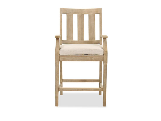Contemporary Patio Bar Stool in Beige