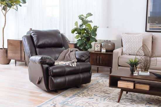 "Casual 40"" Rocker Recliner in Brown"