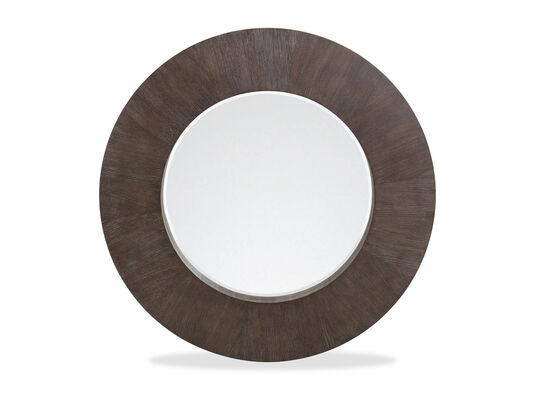 44'' Round Casual Mirror in Cerused Charcoal