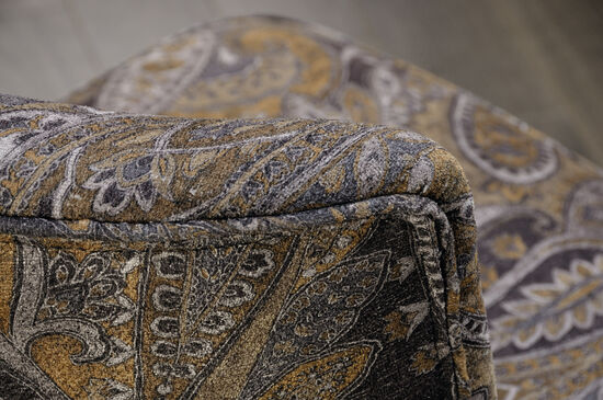 """Contemporary Autumn Brocade-Patterned 22"""" Accent Chair"""