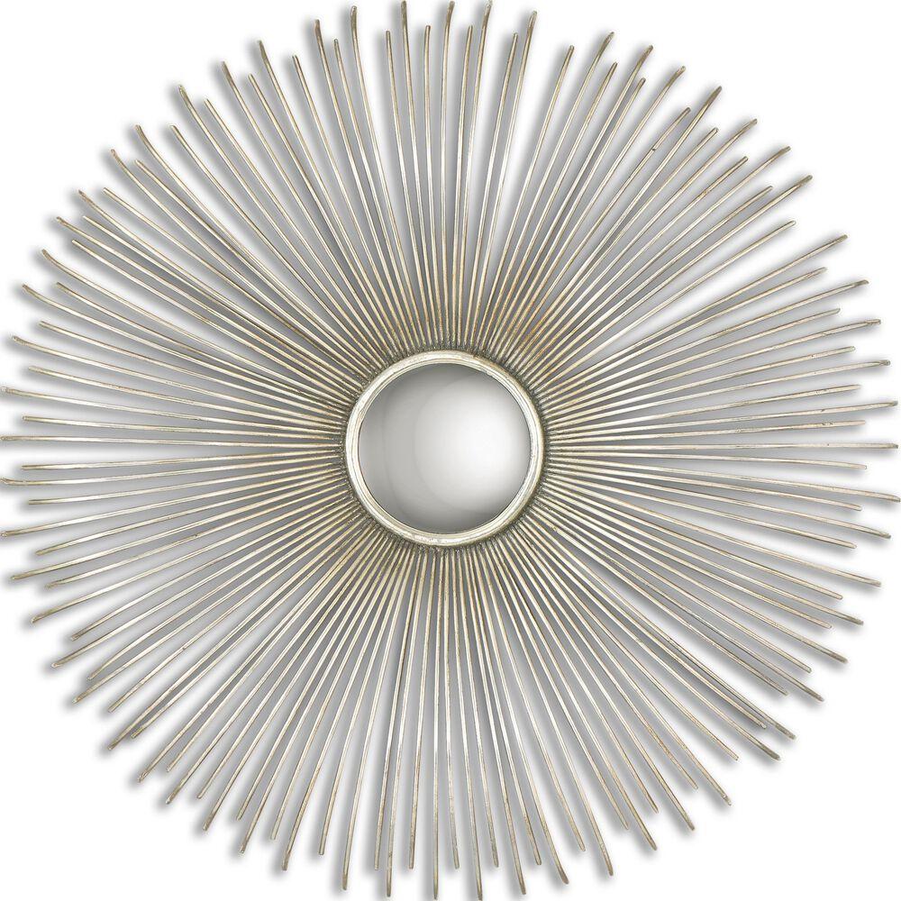 31.5'' Sunburst Round Mirror in Silver