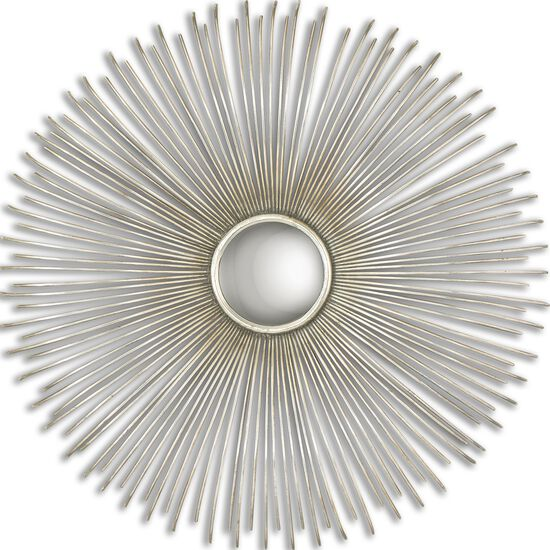 31.5'' Sunburst Round Mirror in Silver